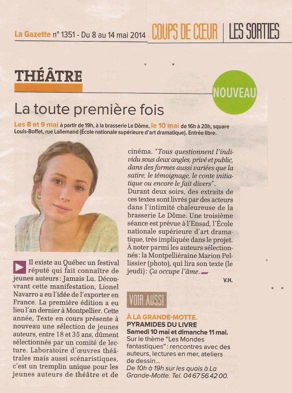 TEC - Gazette de Montpellier - 8 mai 2014