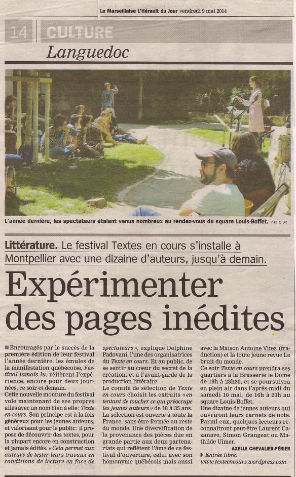 Hérault du jour - 9 mai 2014