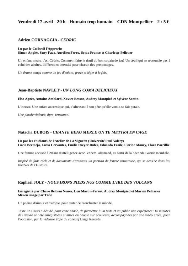 Programme TEC - 17 avril 2015